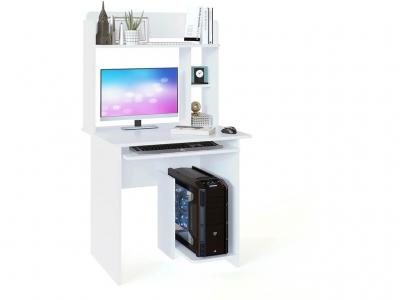 Компьютерный стол Сокол КСТ-21.1 c надстройкой Белый